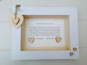 Shabby Personalised Chic Box Frame Present Bridesmaid Maid Matron Of Honour